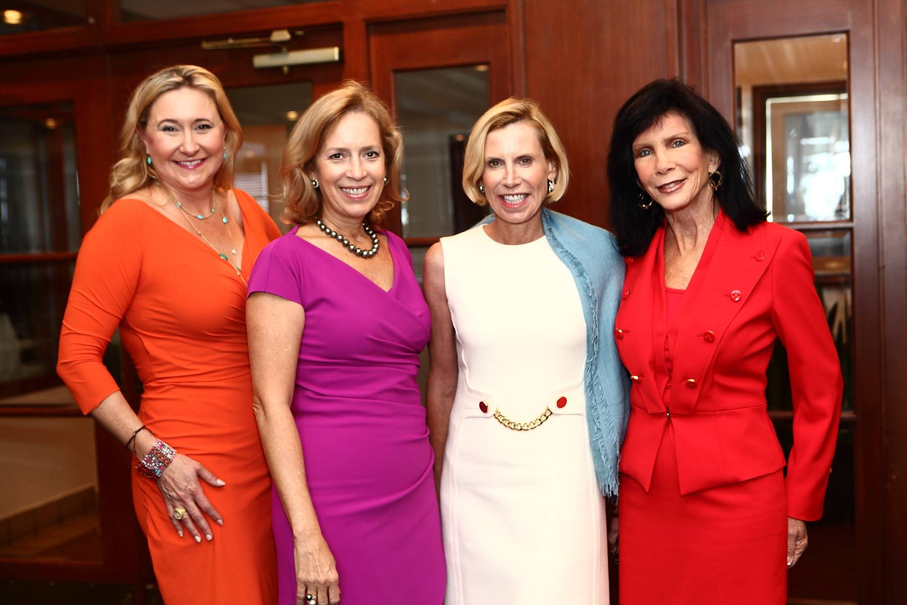 Nicole Lozano ( 2014 Gala Co-Chair), Alicia Cervera Lamadrid ( 2014 Host Chair), Nancy Batchelor (2014 Gala Co-Chair and Honorary Chair), Trish Bell ( Philanthropic Chair and Museum Board Co-Chair)