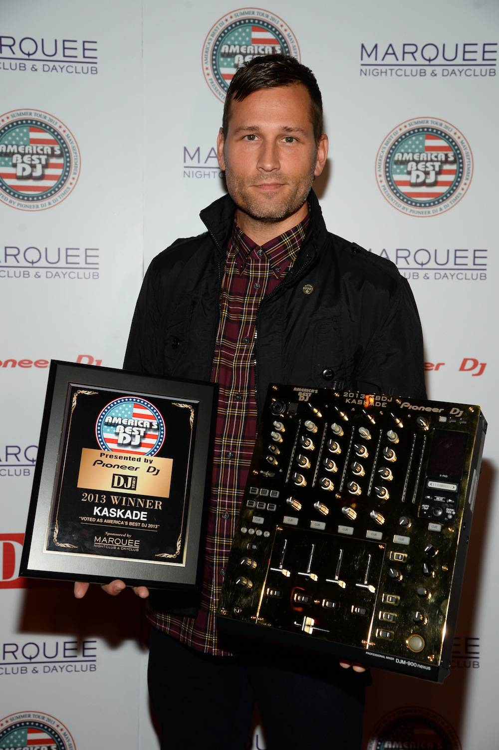 Kaskade on the red carpet at Marquee. Photos: Al Powers/Powers Imagery