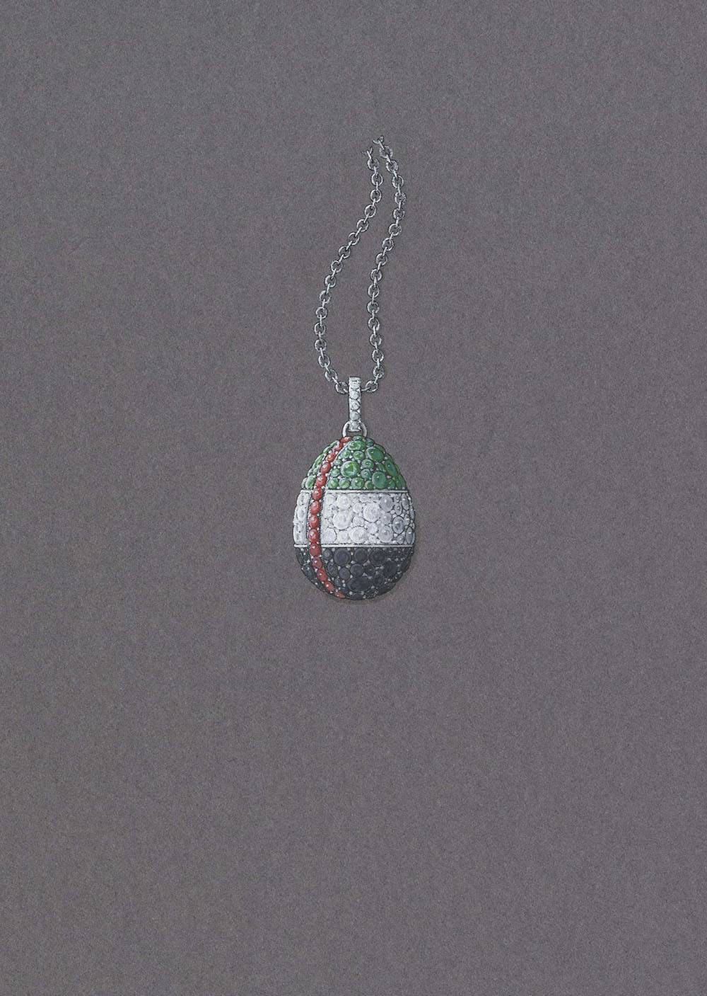 Abu Dhabi Egg with Chain LR