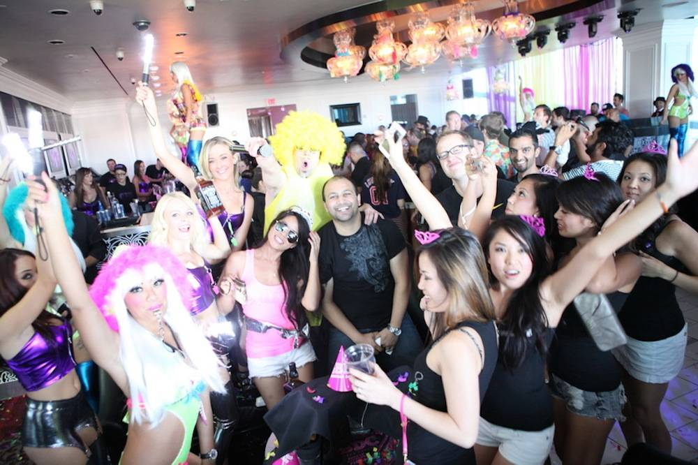 A group of blushing bachelorettes party hard at GBDC. Photo: Joe Fury
