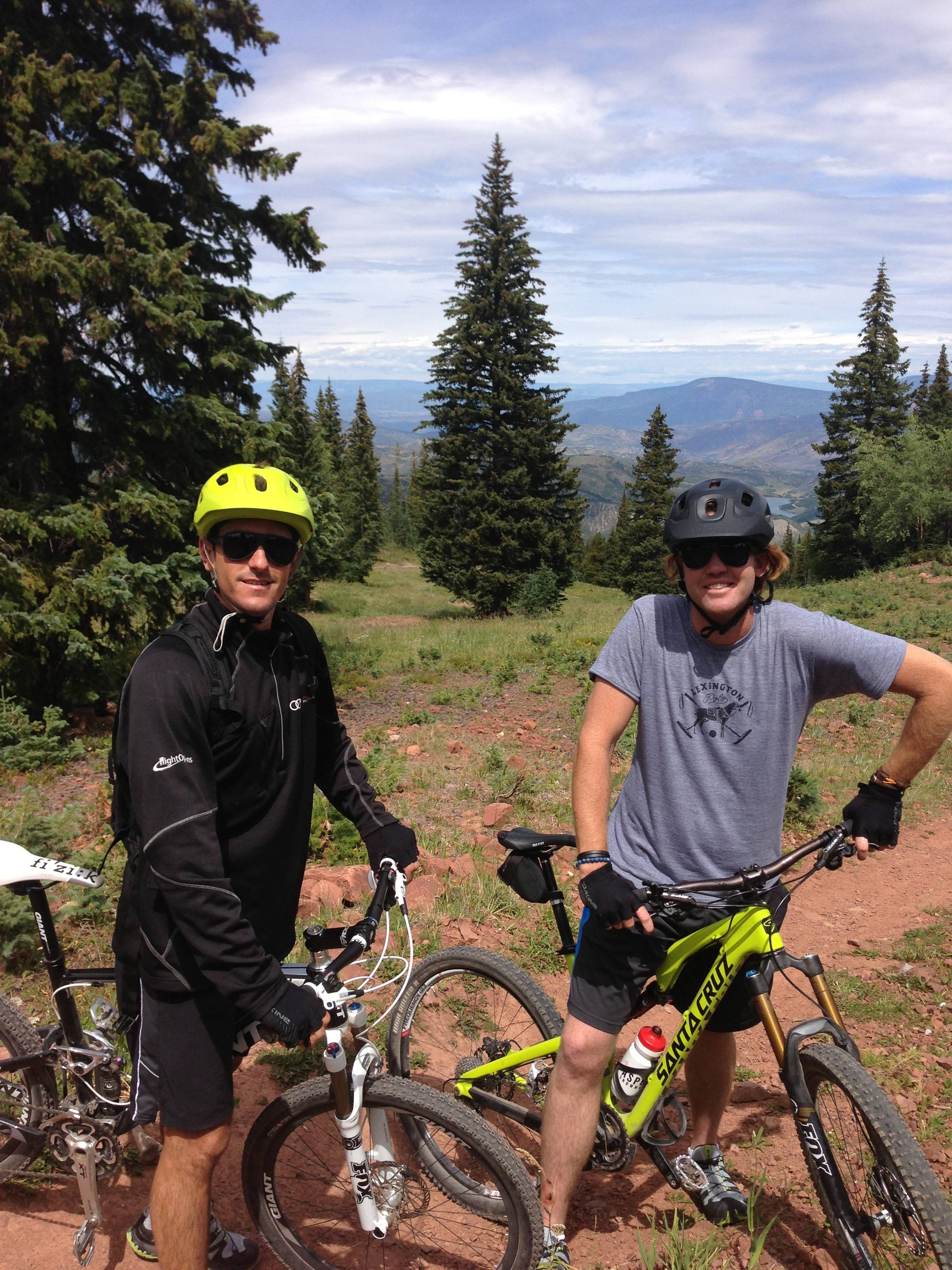 Biking in Snowmass with Kris Kampsen