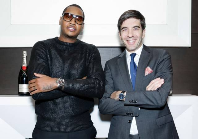 Carmelo-Anthony-and-IWC-Brand-President-Gianfranco-DAttis