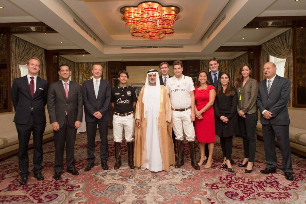 Coutts Polo at the Palace event organisers and sponsors with HH Sheikh Nahyan Bin Mubarak Al Nahyan
