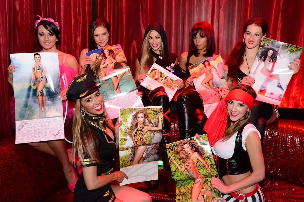 FANTASY cast with calendar(C - lead singer Jaime Lynch)_LAX Nightclub