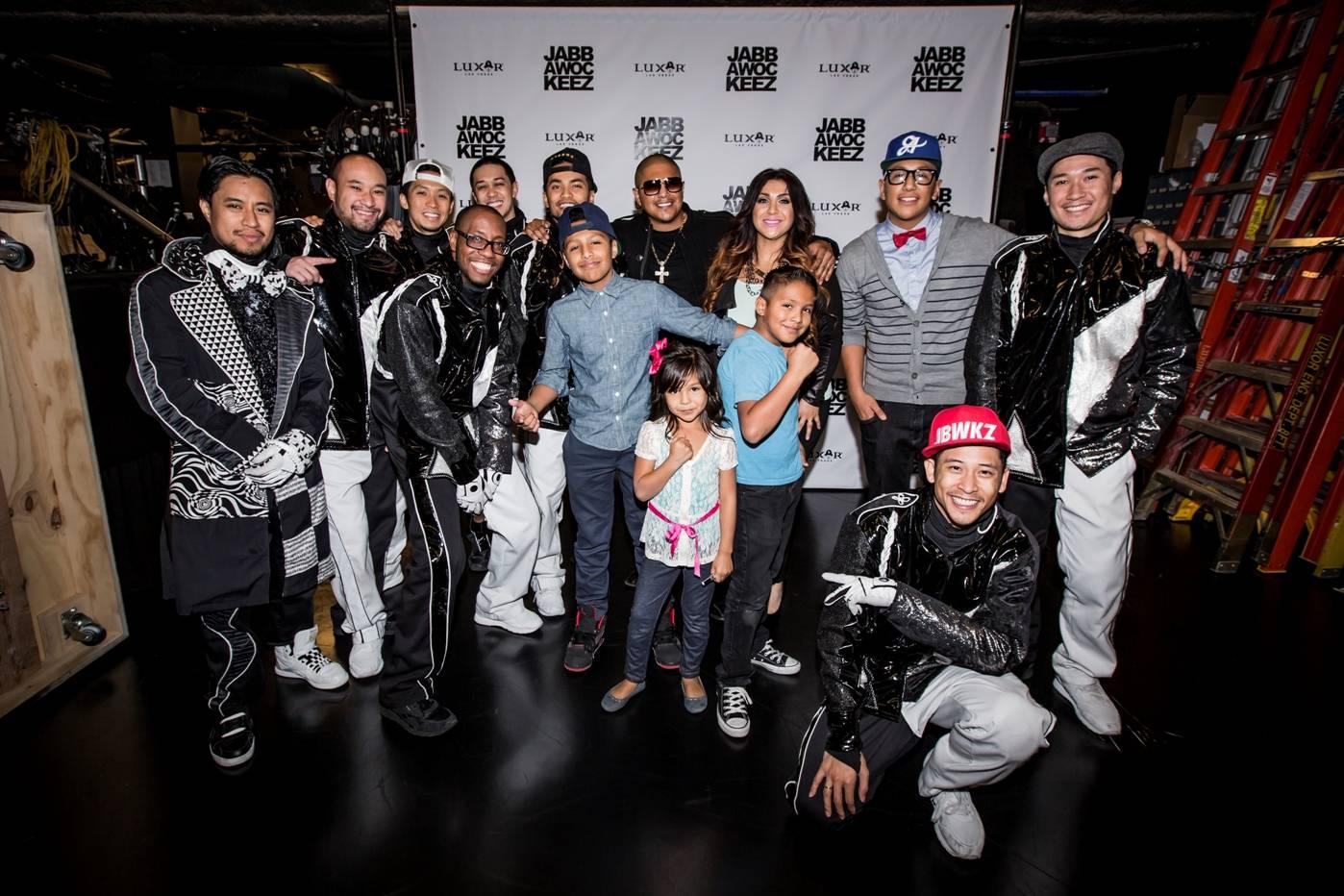 Fernando Vargas and his family at Jabbawockeez. Photo: Joshua Jose