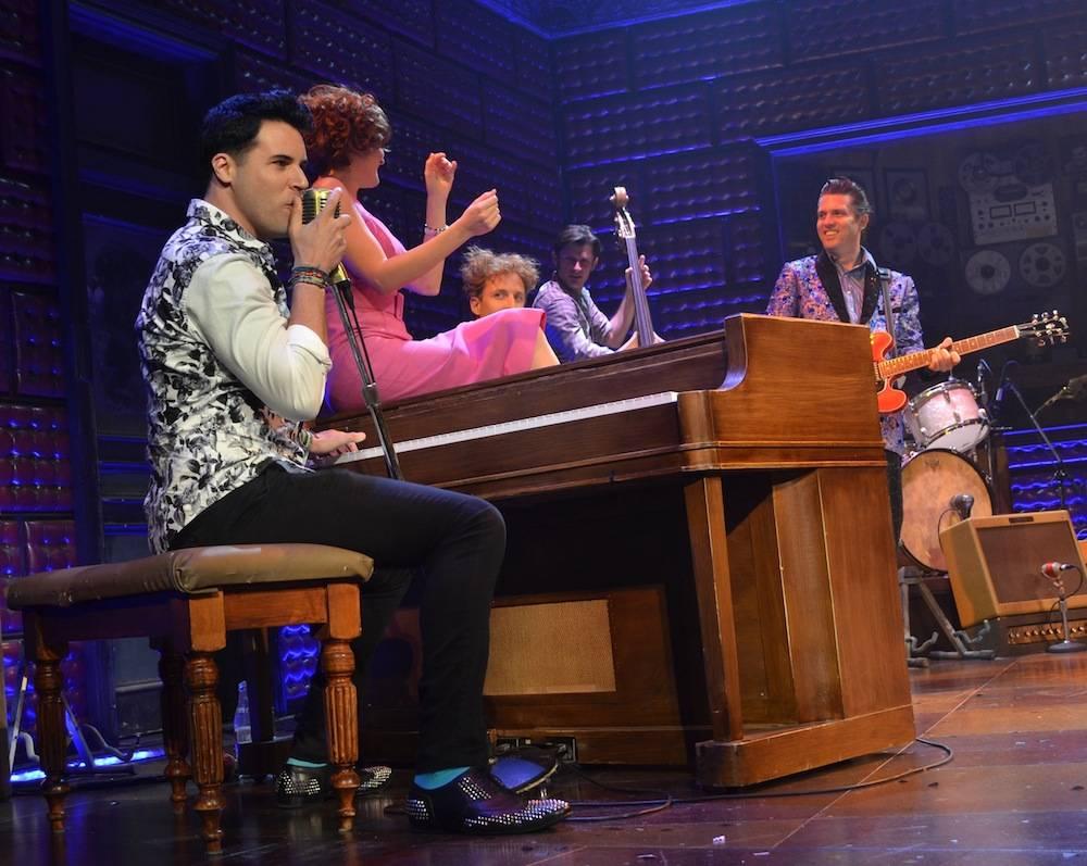 Frankie Moreno Guest Performance at MDQ LV 3 Frankie Moreno with cast of Million Dollar Quartet ©Caesars Entertainment