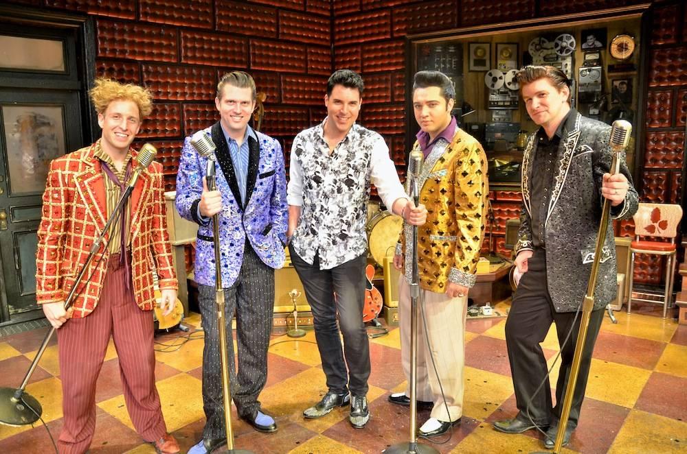 Frankie Moreno with cast of Million Dollar Quartet. Photos: Caesars Entertainment