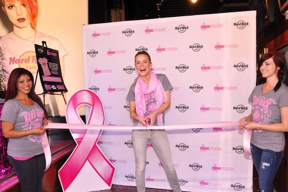 Headliner, Veronic, kicks of Pinktober at Hard Rock Cafe on the Strip on Oct. 1, 2013