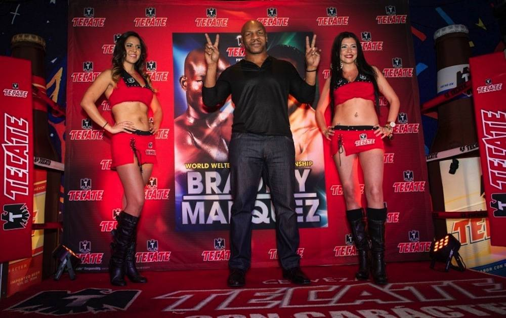 Mike Tyson with Tecate Girls