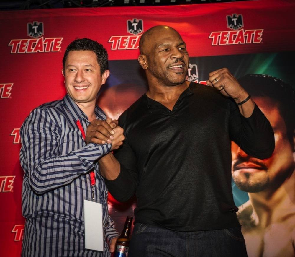 Mike Tyson with fan