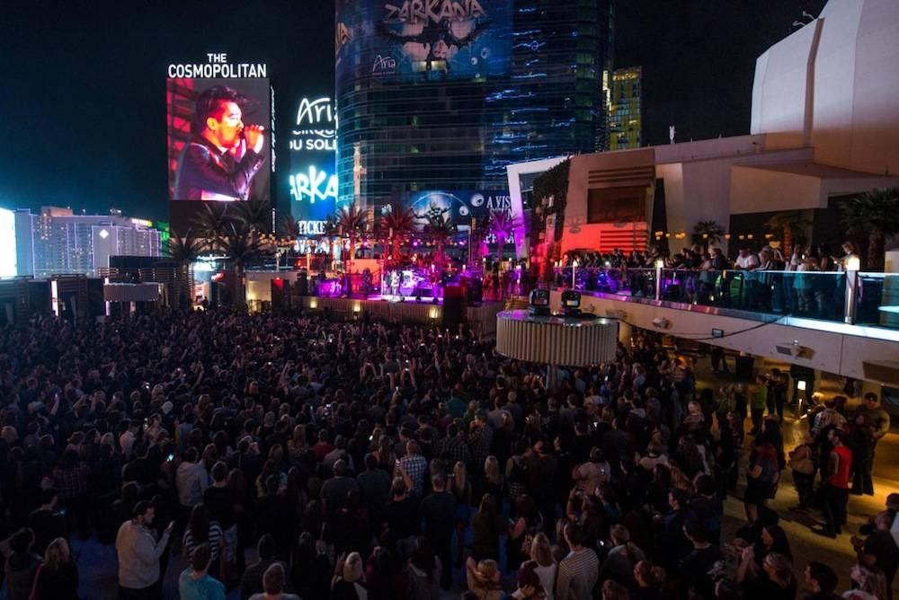 Panic at the Disco performs at the Boulevard Pool of the Cosmopolitan of Las Vegas, October 11, 2013  © Al Powers, PowersImagery.com