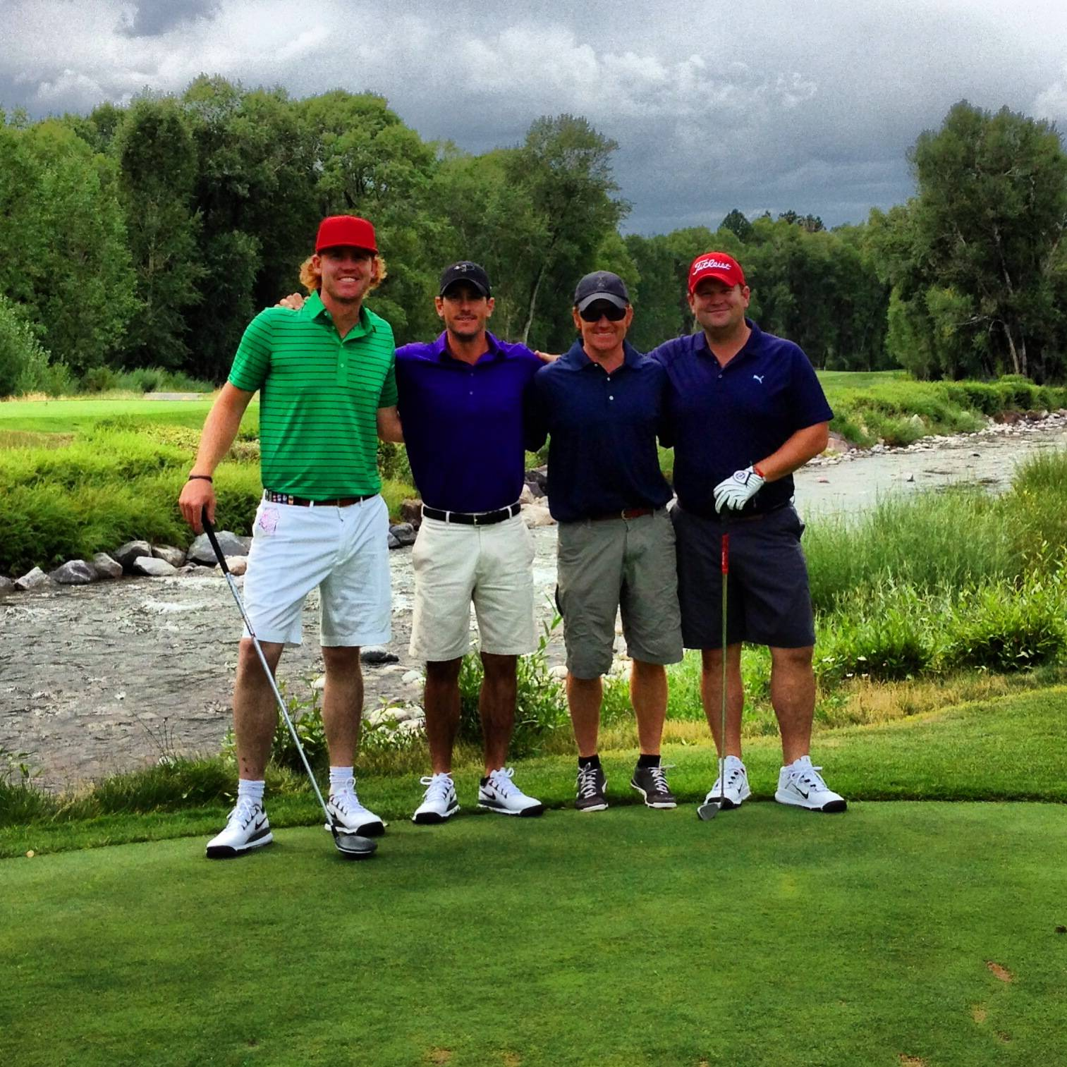 Roldan and friends golding at the Roaring Fork Club