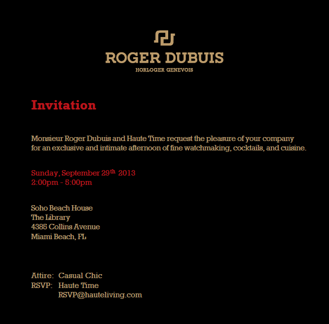 Roger Dubuis Brunch