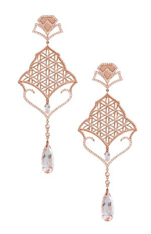 Semiramis Rose Gold Earrings LO-RES