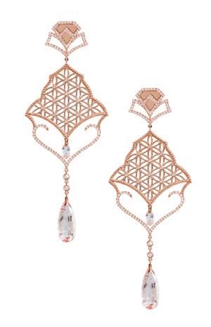 Semiramis Rose Gold Earrings LO-RES