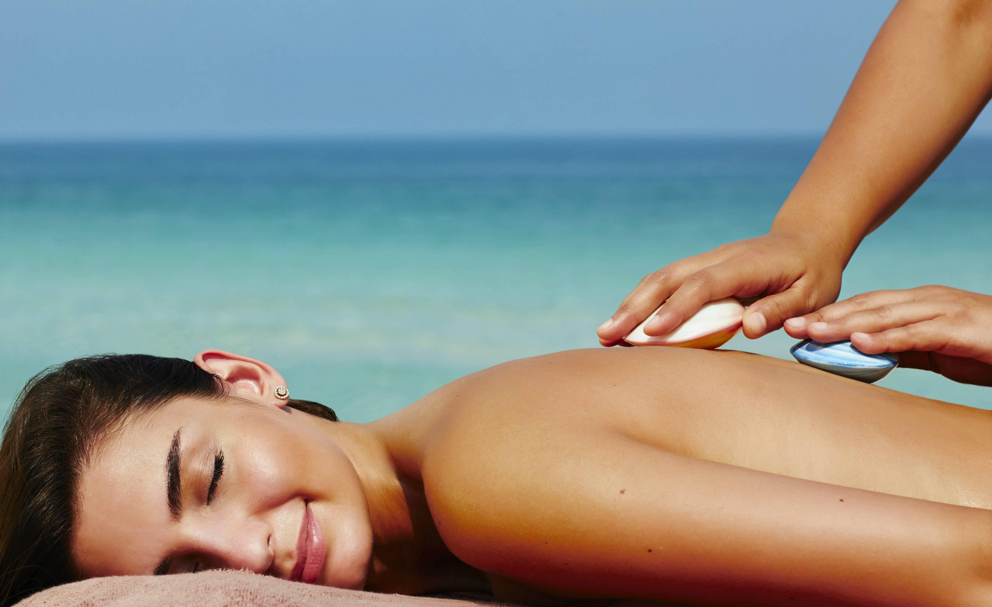 Talise Spa Beach Cabana Seashell Massage