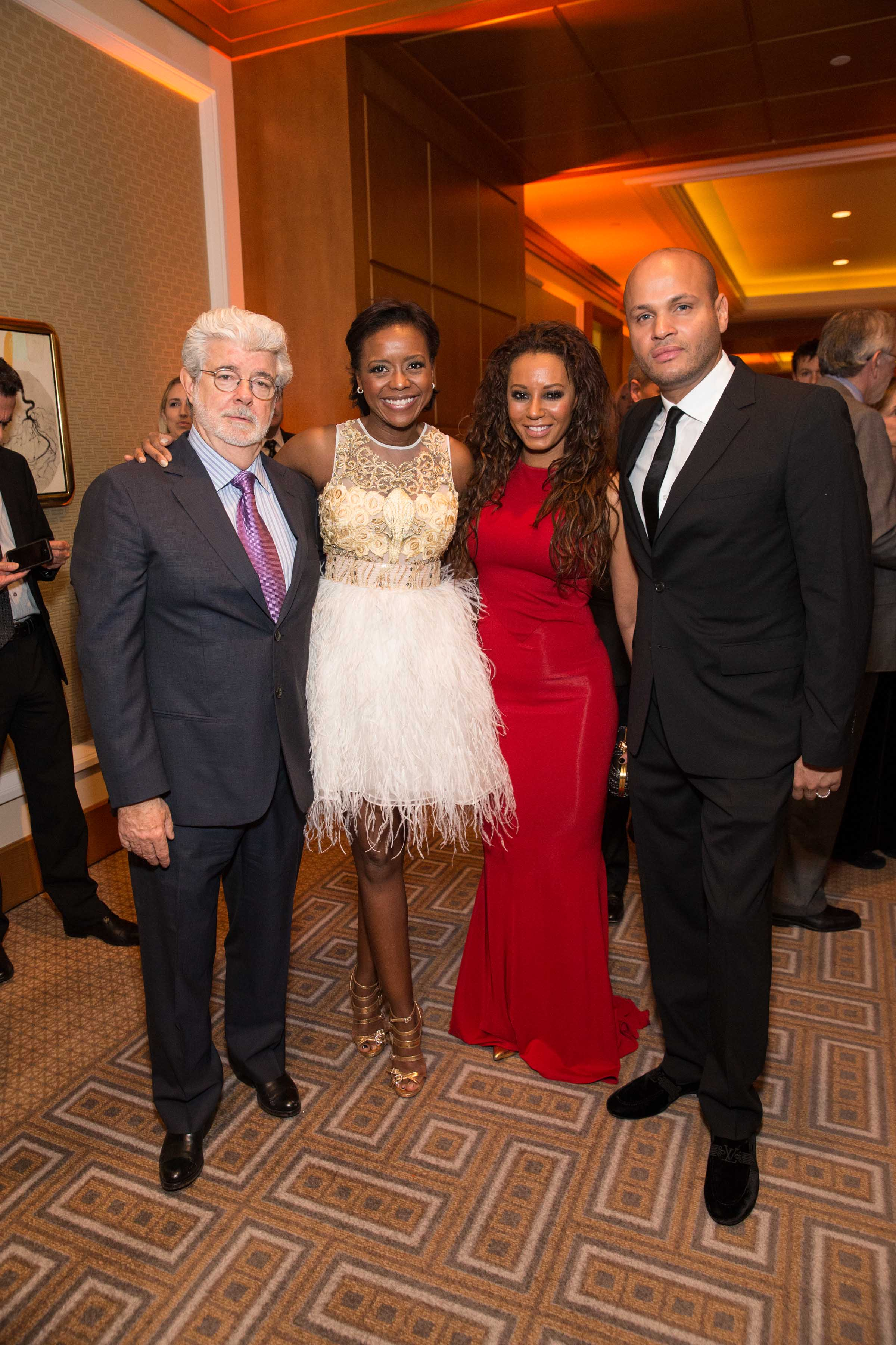George Lucas, Mellody Hobson, Mel B and Stephen Belafonte Credit: Drew Altizer Photography