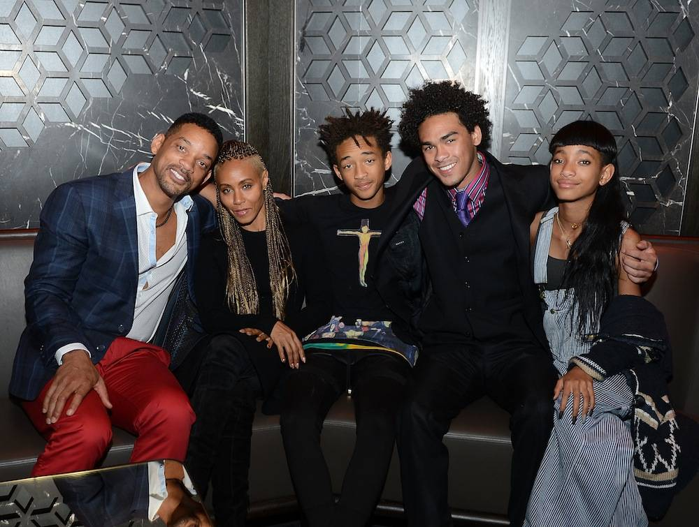 Will Smith, Jada Pinkett Smith, Jaden Smith, Trey Smith and Willow Smith celebrate Trey Smith's 21st birthday with special dinner at Hakkasan. Photos: Denise Truscello/WireImage