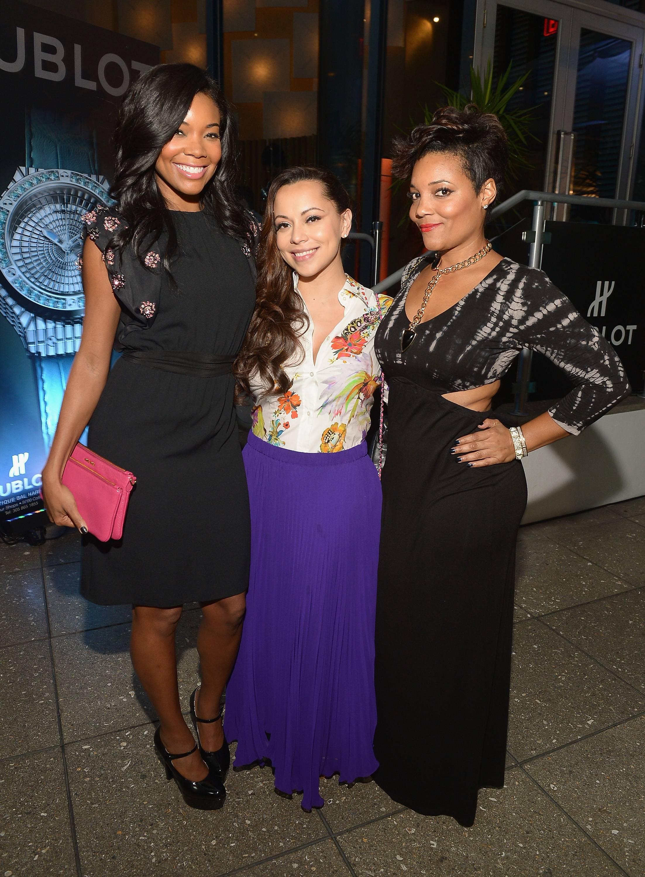 Gabrielle Union,Adrienne Bosh and Amaris Jones