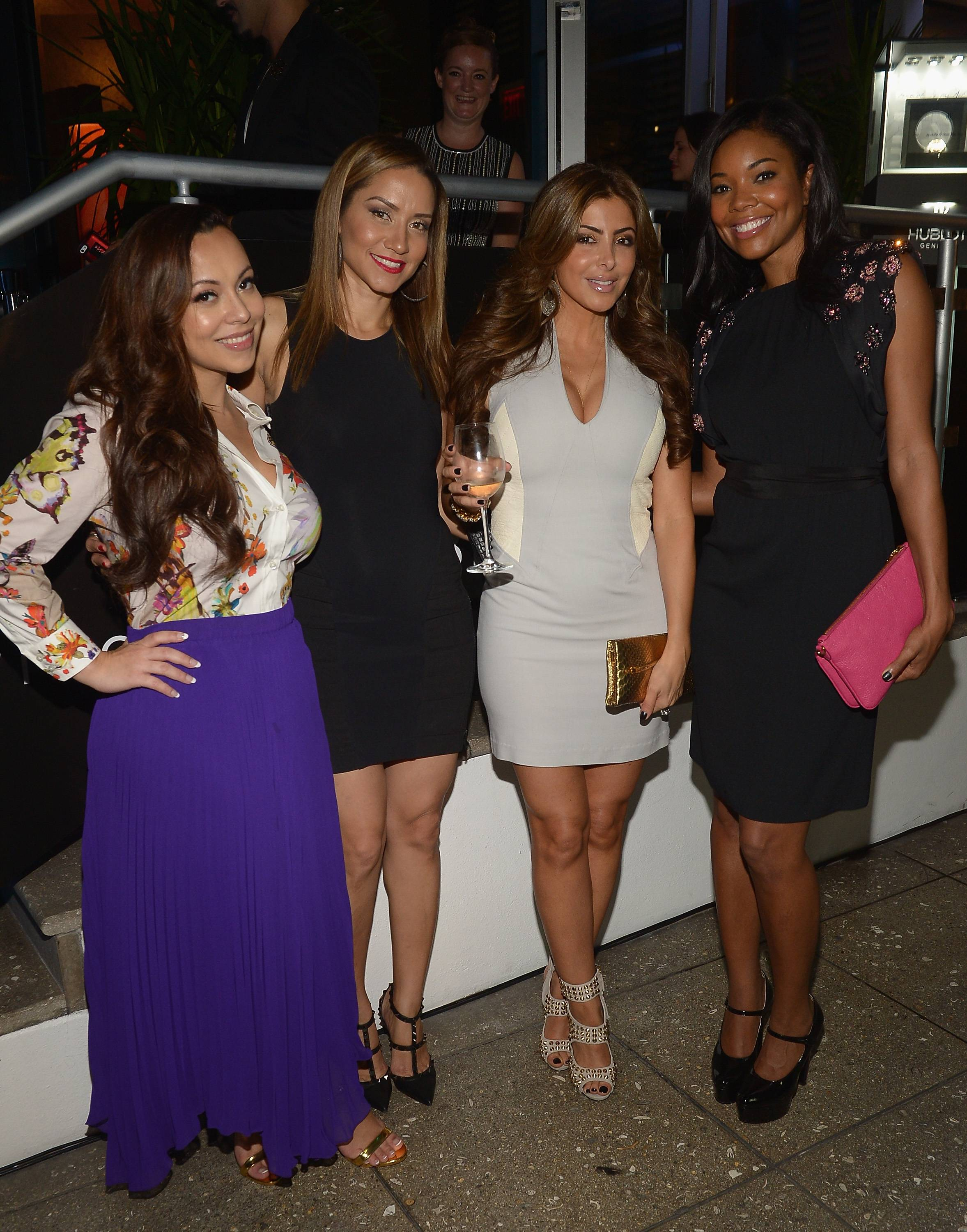 Adrienne Bosh,Mary Floyd,Larsa Pippen and Gabrielle Union