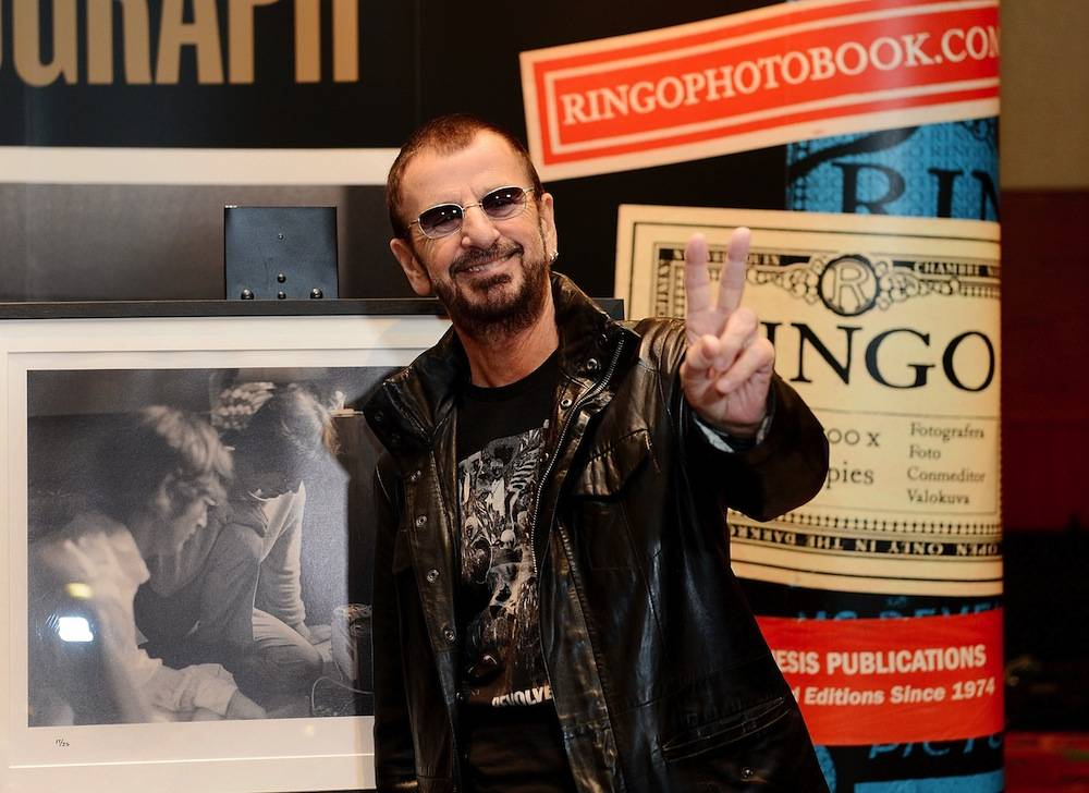 "Ringo Starr Holds First Public Launch Of Book PHOTOGRAPH With Guests The ""kids in the car"" At Palms Casino Resort"