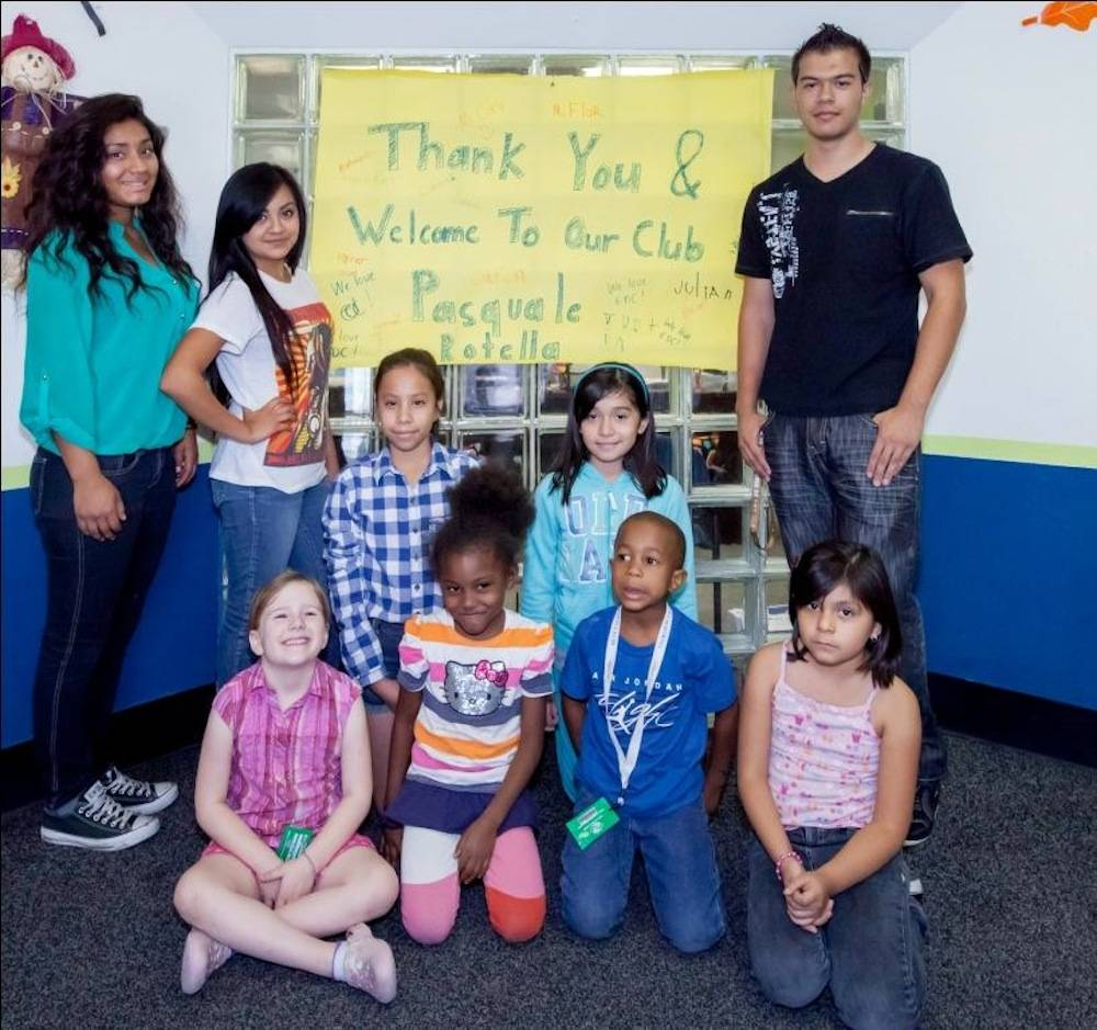 Boys and Girls Clubs of Southern Nevada youth welcome Pasquale Rotella