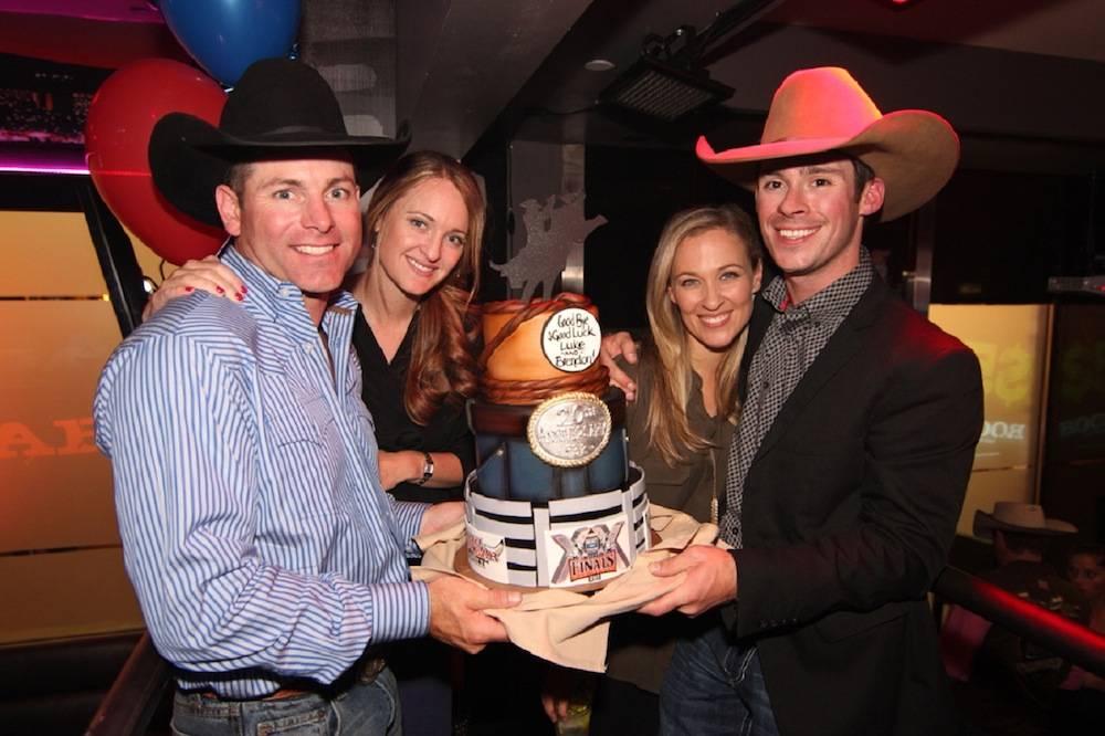 Brendon Clark, Allison Clark, Jennifer Snyder and Luke Snyder during Retirement Party at PBR Rock Bar