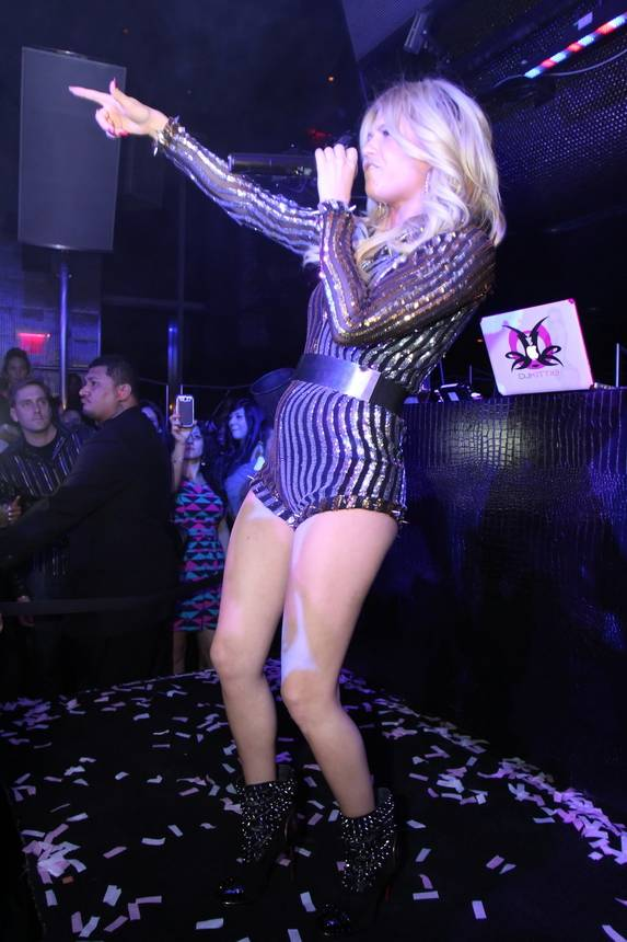 Chanel West Coast performing