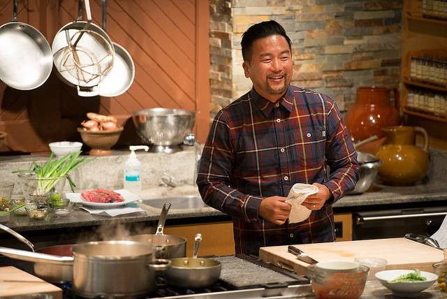 Culinary demonstration with Roy Choi courtesy of Flavor! Napa