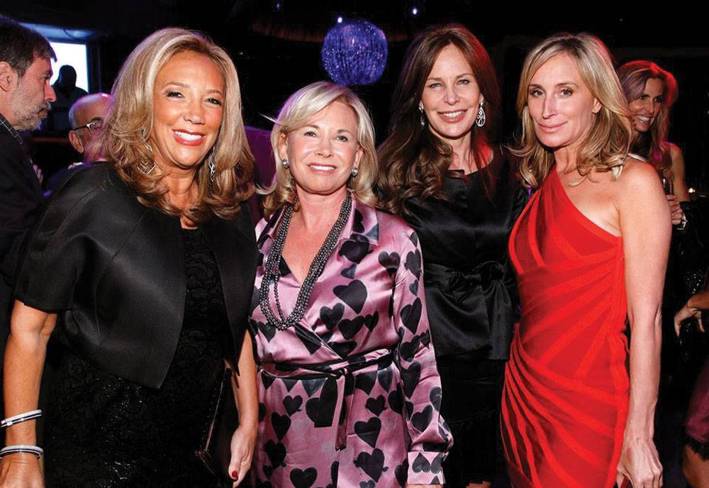 Denise Rich, Sharon Bush, Brenda Von Schweickhardt and Sonja Morgan