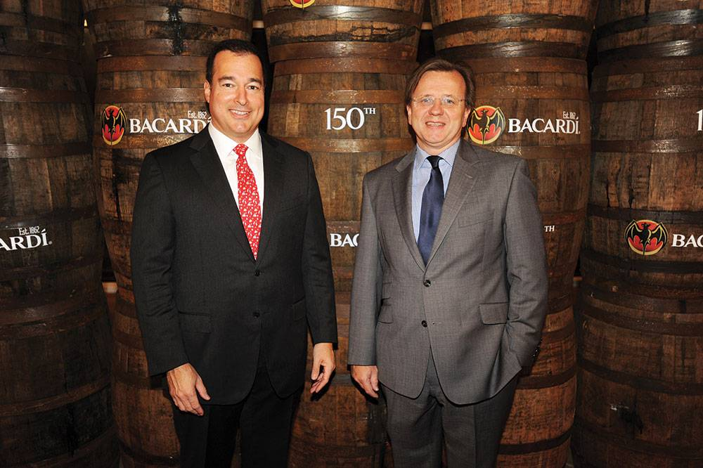 Facundo L. Bacardi with Robert Furniss-Roe, Regional President of Bacardi North America
