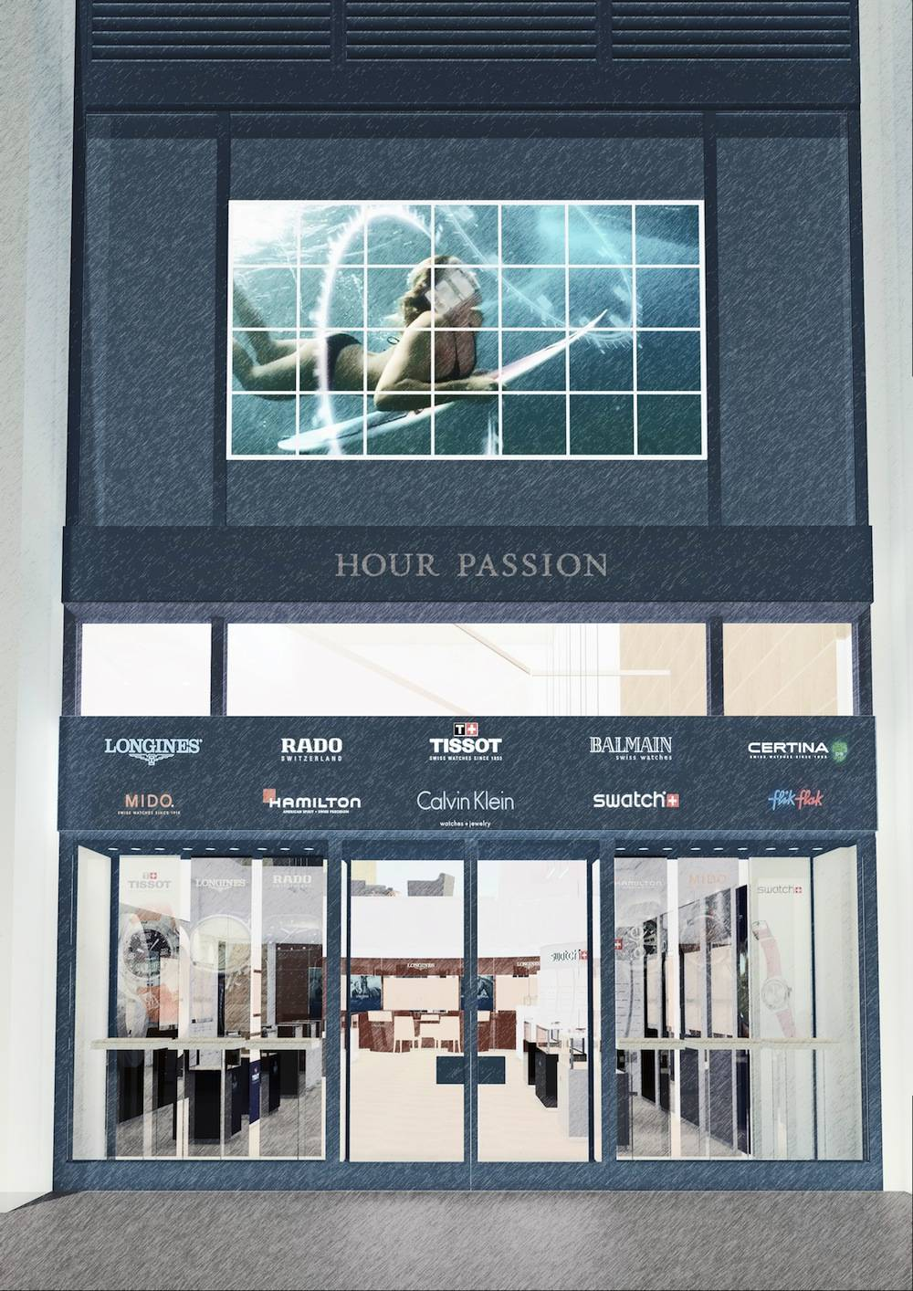 A rendering of the Hour Passion New York facade.