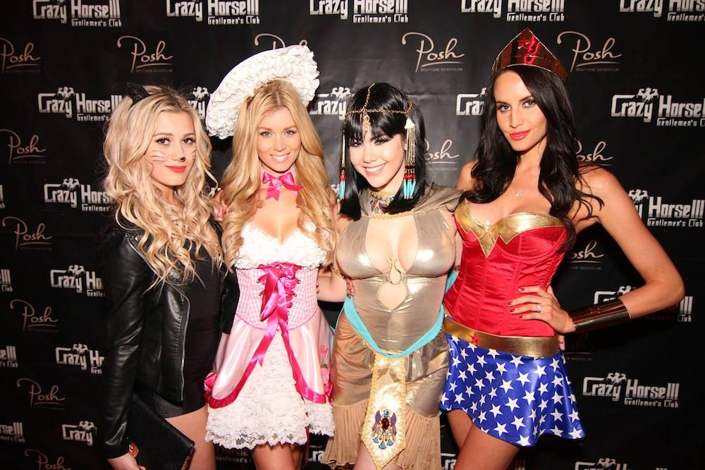Karissa Pukas, Sheridyn Fisher, Claire Sinclair and Lauren Vickers at Posh Boutique Nightclub inside Crazy Horse III. Photos: Jeff Ragazzo