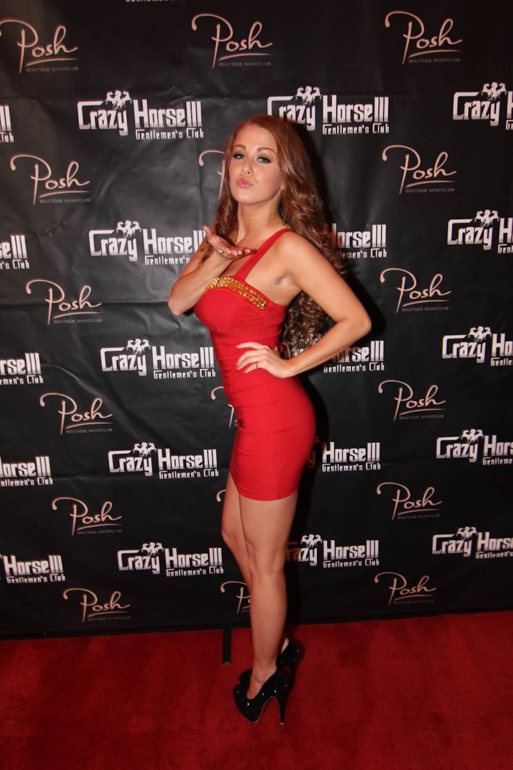 Leanna Decker Blows Kisses on Red Carpet at Crazy Horse 3