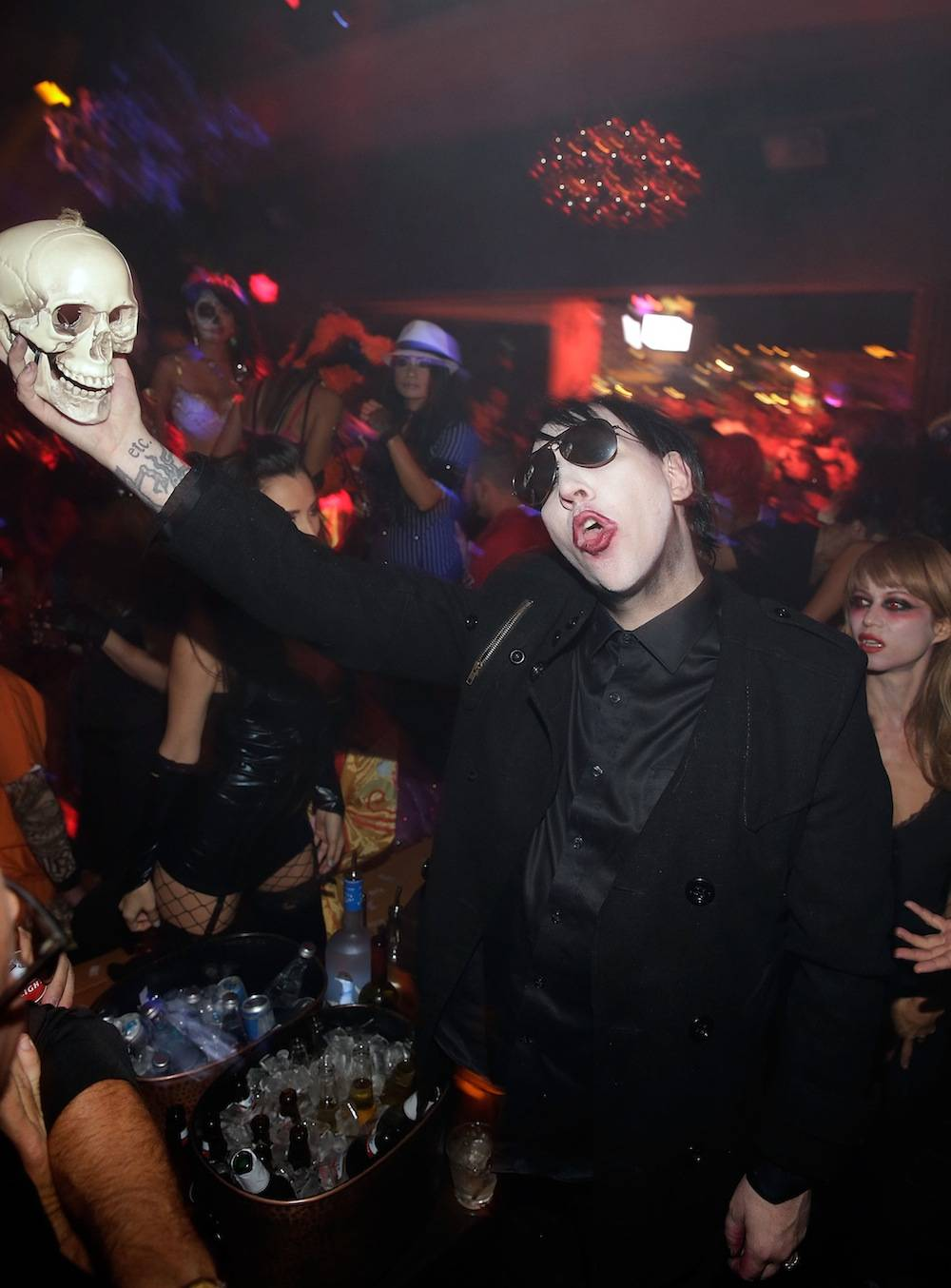 Marilyn Manson Hosts Halloween Bash At Hyde Bellagio In Las Vegas