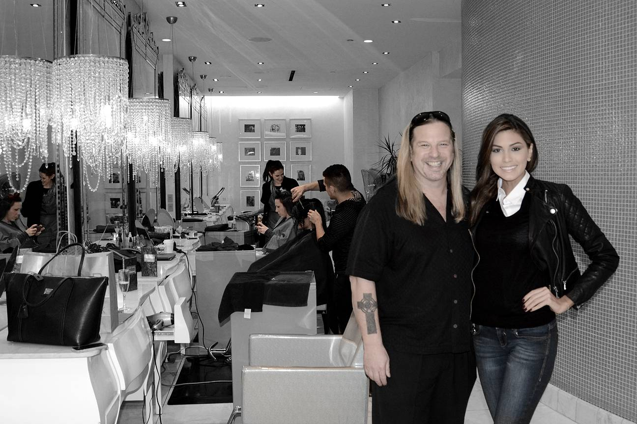 Michael Boychuck with Miss Universe, Gabriela Isler, at Color Salon.
