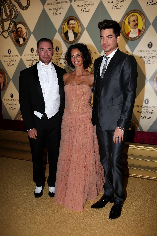 Shareef Malnik, Gabrielle Anwar, & Adam Lambert