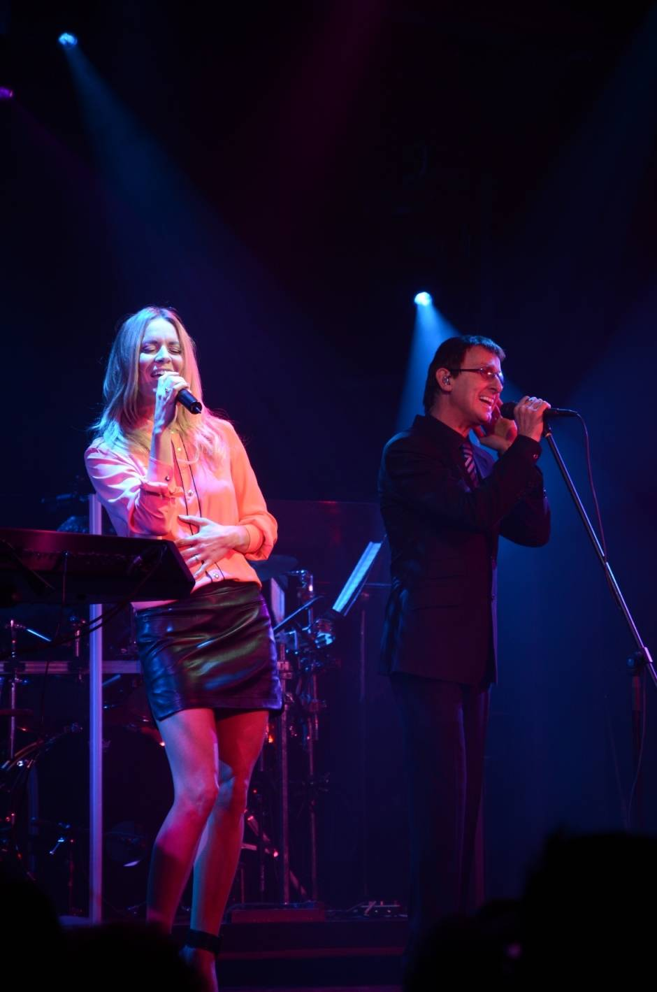 Veronic DiCaire performs Immortality with the Australian Bee Gees Show. Photos: Patrick Walthers