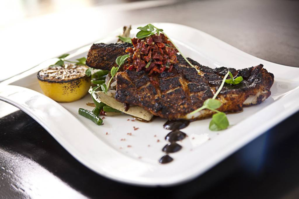 Wood-Grilled Blackened Local Snapper