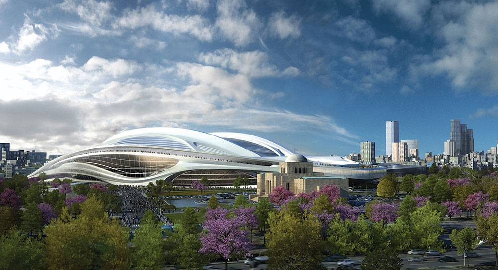 New National Stadium of Japan by Zaha Hadid Architects for the 2020 Olympic Games