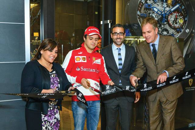 Felipe Massa at the Hublot boutique in Houston