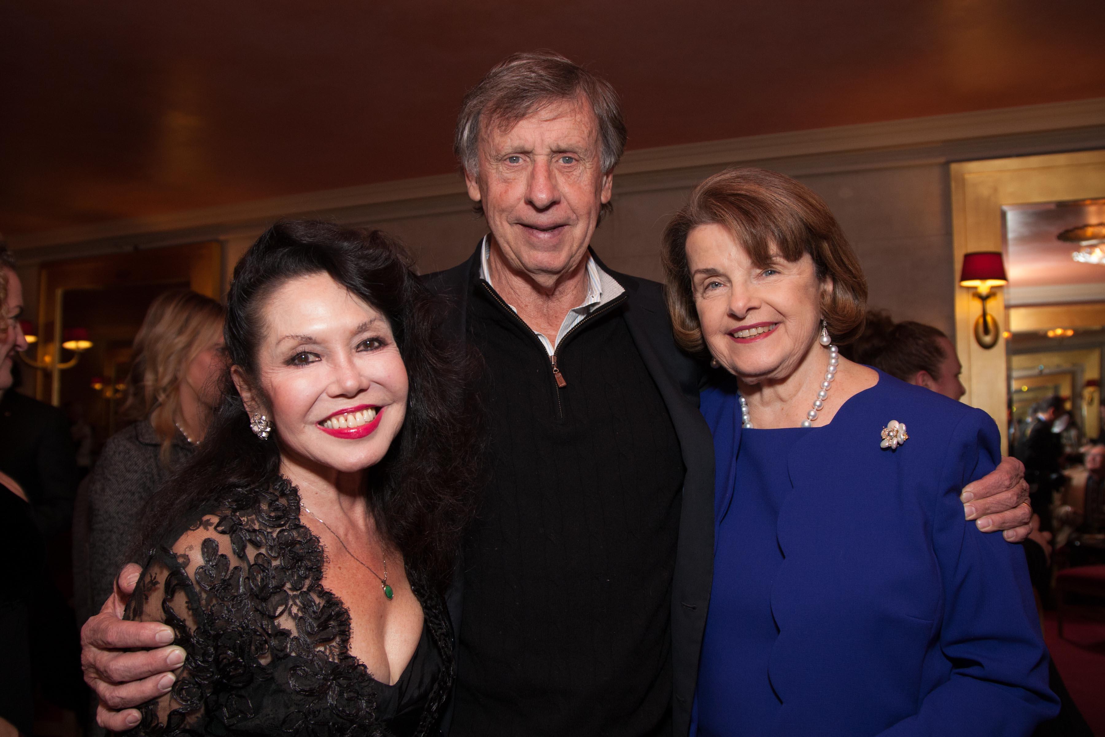 Janice Mirikitani, Richard Blum, US Senator Dianne Feinstein