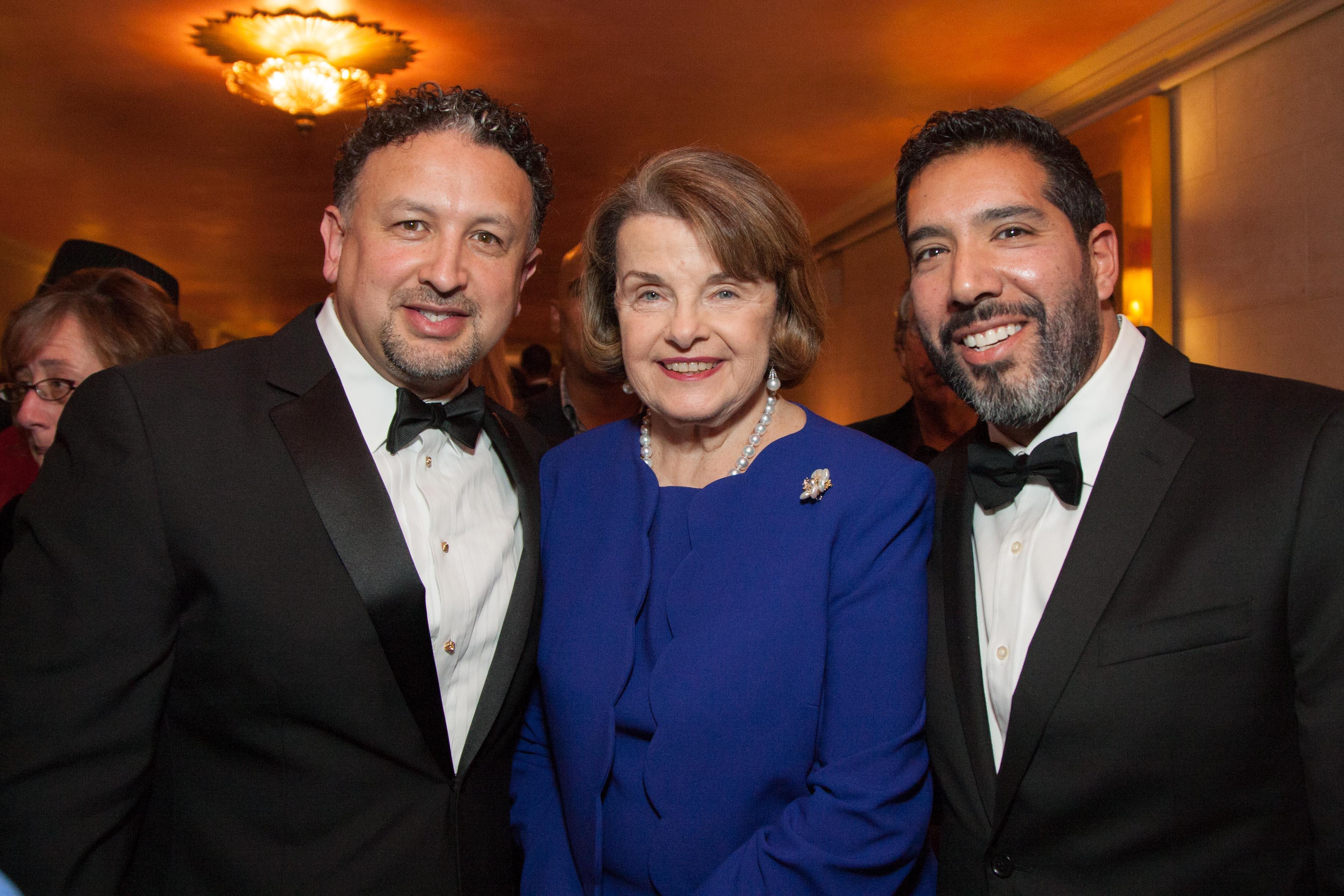 MIguel Bustos, US Senator Dianne Feinstein, Alex Rivera