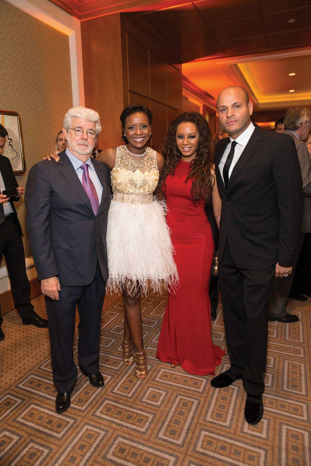 George Lucas, Mellody Hobson, Melanie Brown and  Stephen Belefonte