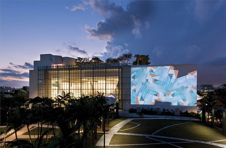 Wallcast at the  New World Symphony Campus