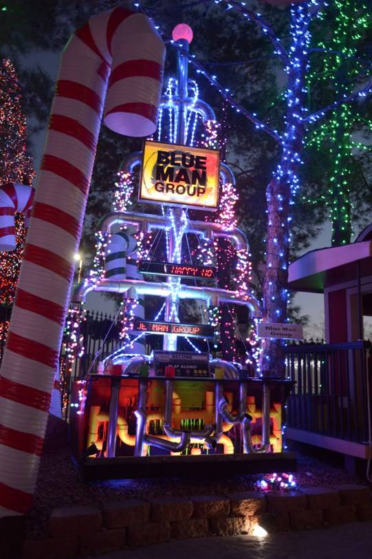 10.9.13 Blue Man Group's Holiday Tree at Opportunity Village's Magical Forest_photo credit Paul Smith, Las Vegas Photo and Video (2)