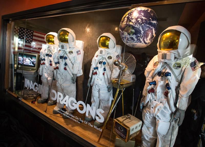 12.30.13 Imagine Dragons new memorabilia case located inside Hard Rock Hotel & Casino Las Vegas