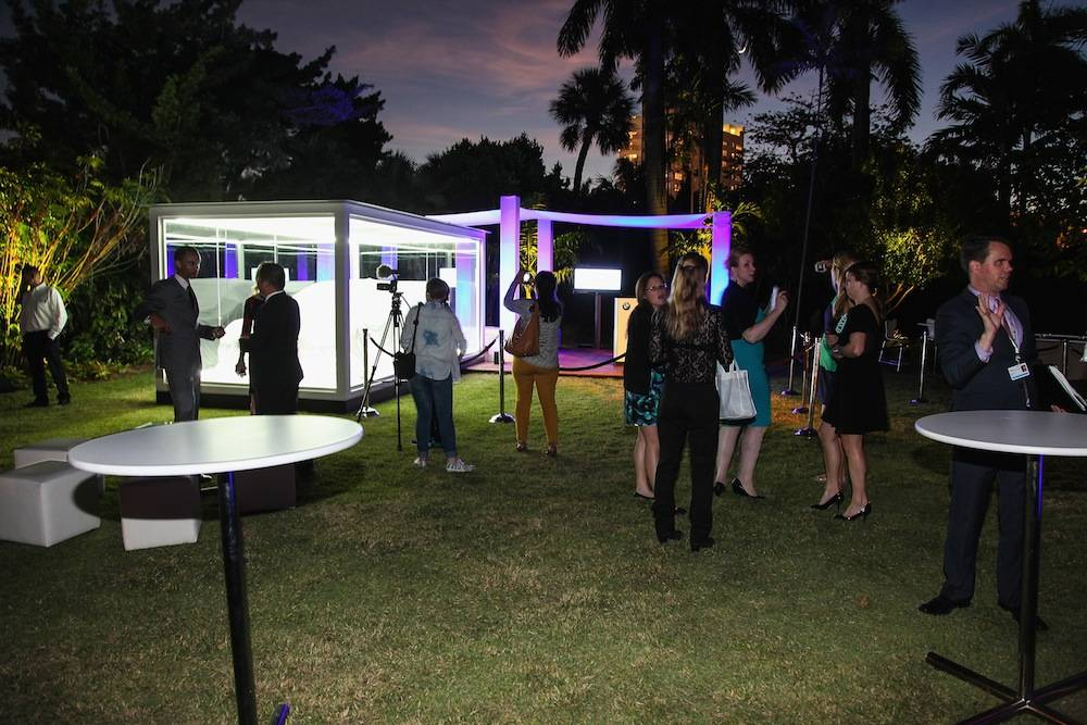 Jeff Koons BMW Art Car US Premiere And Andy Warhol BMW Art Car Exhibition At Art Basel In Miami Beach