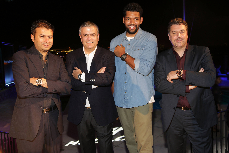 Kamal Hotchandani, Ricardo Guadelupe, Artist Hebru Brantley, and Rick De La Croix pose with Hublot watches