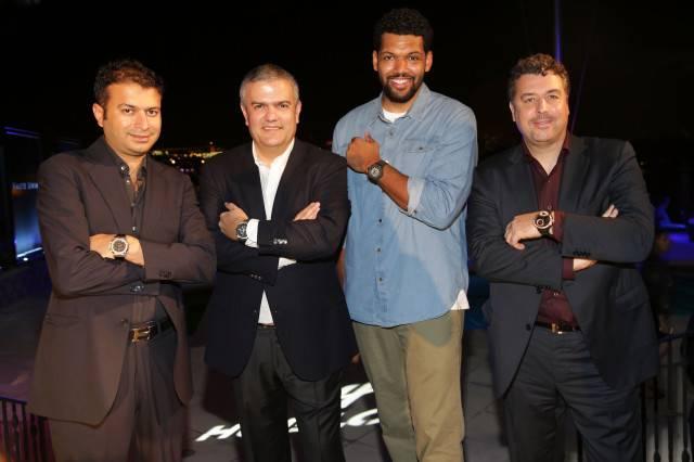 Kamal Hotchandani, Ricardo Guadelupe, Artist Hebru Brantley, and Rick De La Croix
